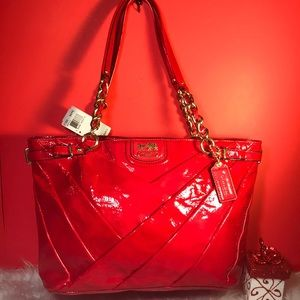 🌸SALE 🌸 NEW COACH PUNCH PATENT LEATHER TOTE